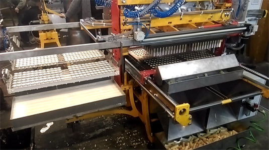 Automatic machinery for baking wafer rolls fi 26 (288 rolls in one baking cycle). Baking tests.
